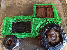 Tractor brownie from Sheri Crawford