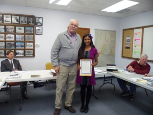 Bennington Mayor, Gordon Mueller, presented Sama with a City Proclamation for her generous gift to the Library,