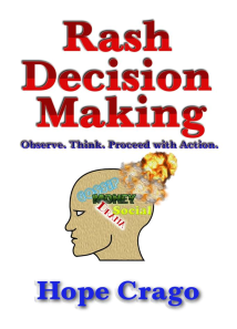 rash decision making
