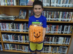 "Camden Beresh was the winner of the ""Guess How Many Cheese Balls"" contest.  He is now in possession of a ginormous jar of yummy cheese balls!"