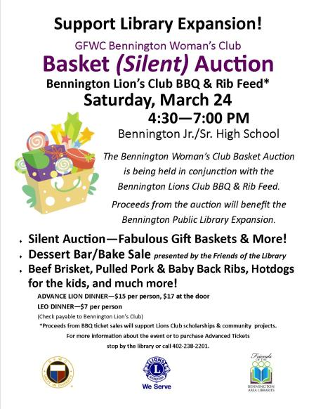 basket auction flyer 2018
